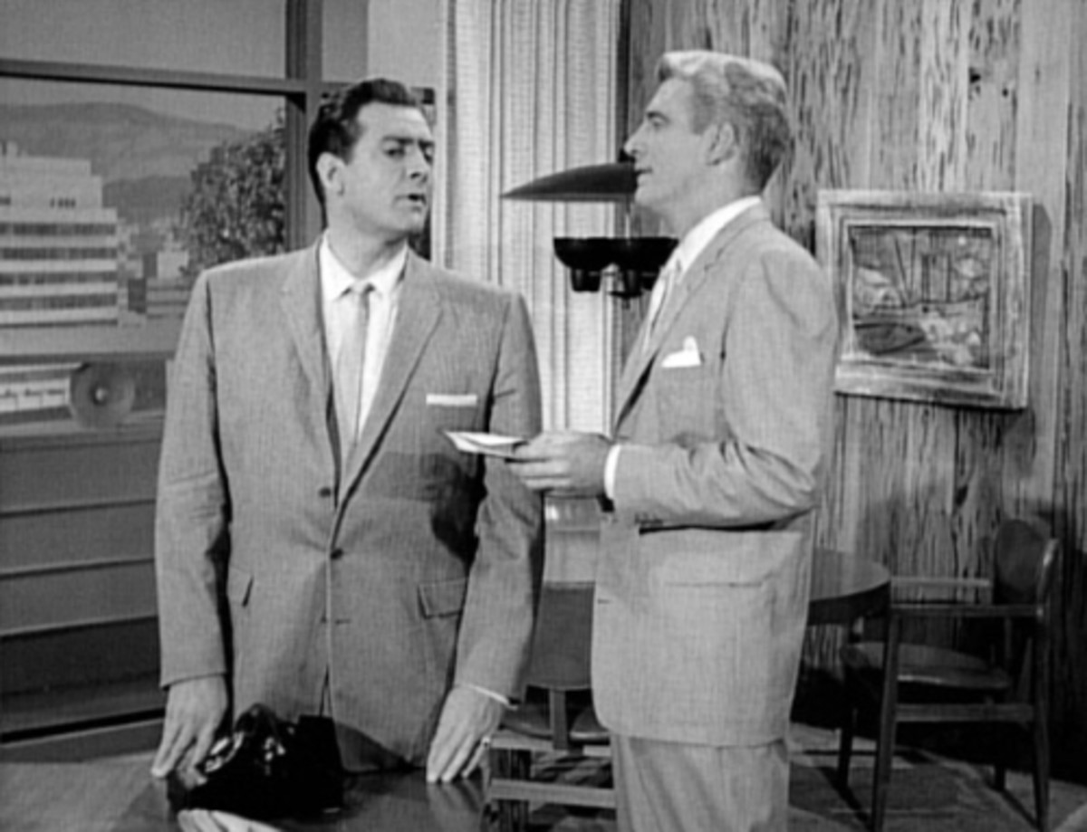 "(left) Raymond Burr, ""Perry Mason,"" and ""Paul Drake,"" William Hopper."