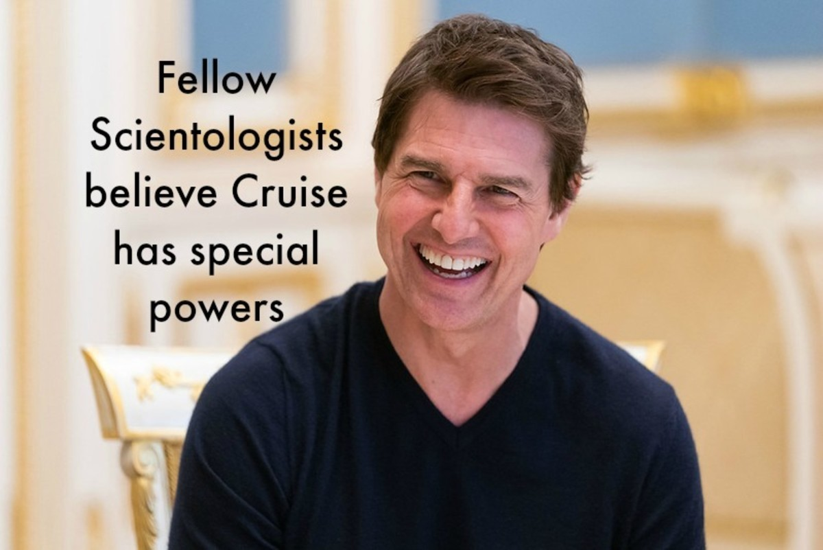 Those in the religion believe that Cruise can move inanimate objects with his mind and leave his body at will.
