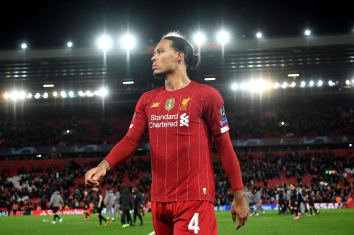 Virgil Van Dijk with Liverpool FC
