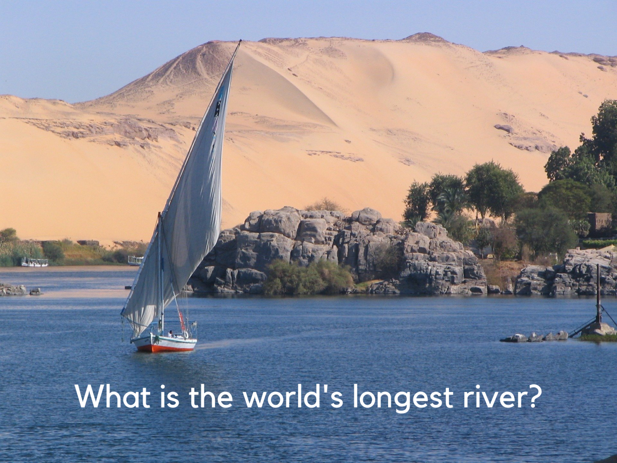 The Nile is the longest river in the world at 4,132 miles. (The Amazon is the largest by volume.)