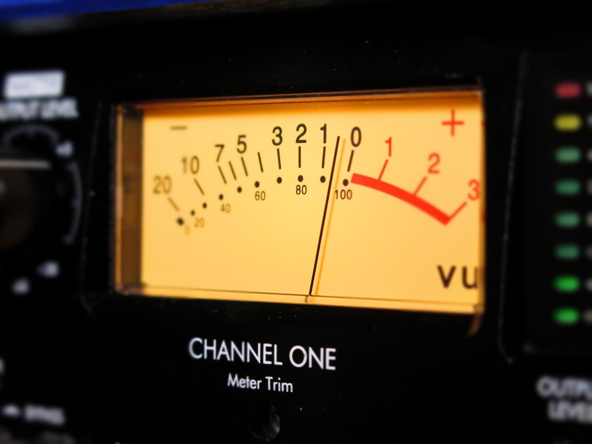 An audio meter.