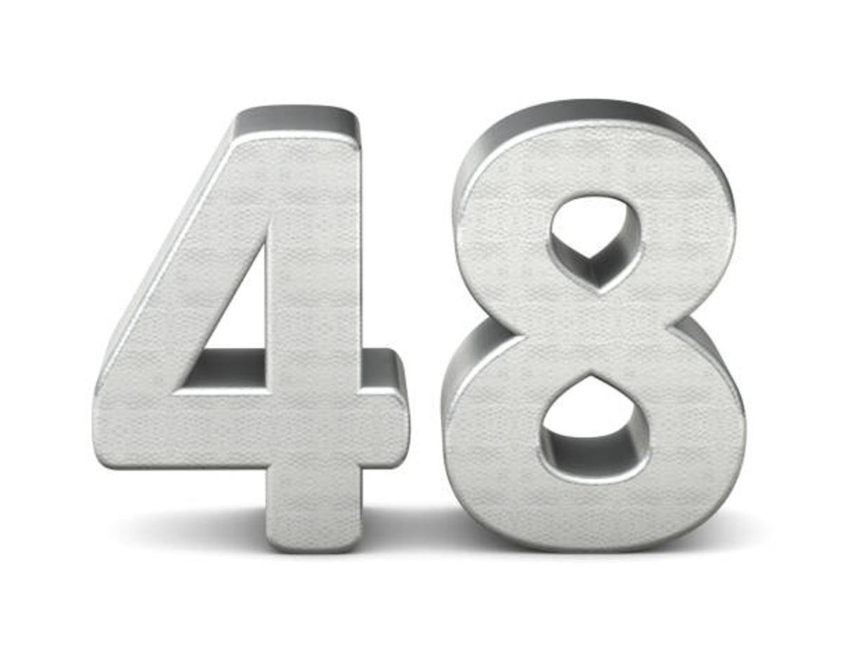 The Number 48 in Film, Music and Religion. Also Lots Of Maths Facts About Forty Eight.
