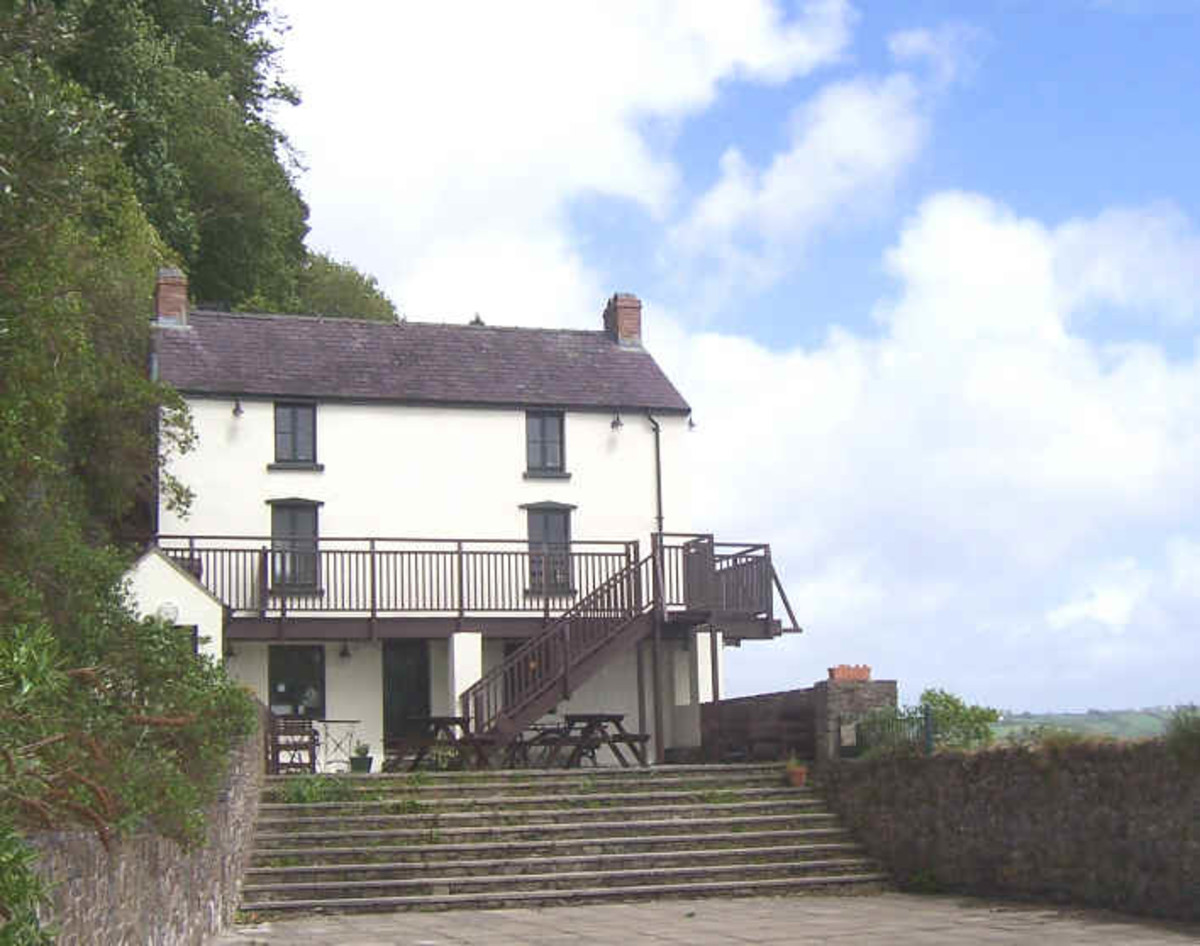 Pictured here is the Dylan Thomas Boathouse in Laugharne, Carmarthenshire, Wales, where Thomas and his family lived from 1949 to 1953.