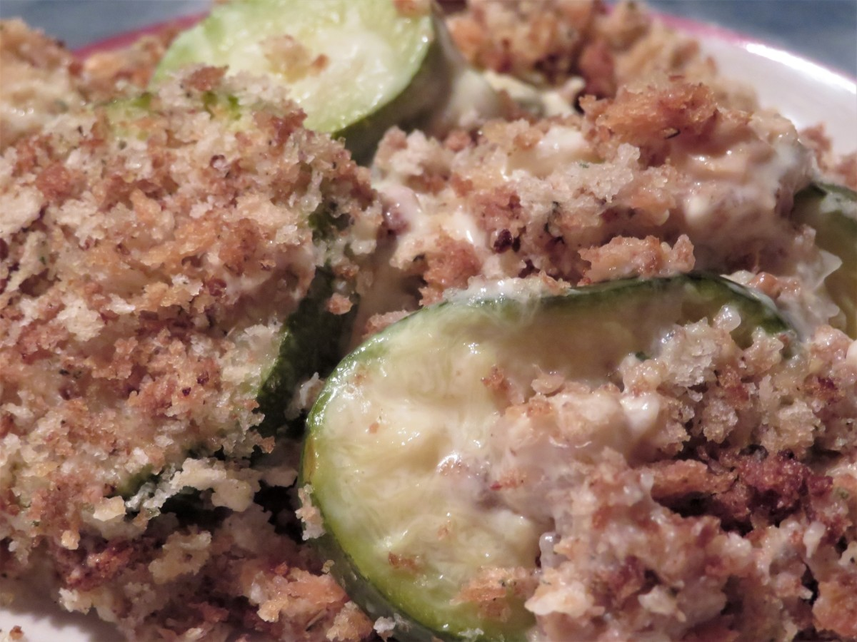 A serving of this zucchini dressing mixture