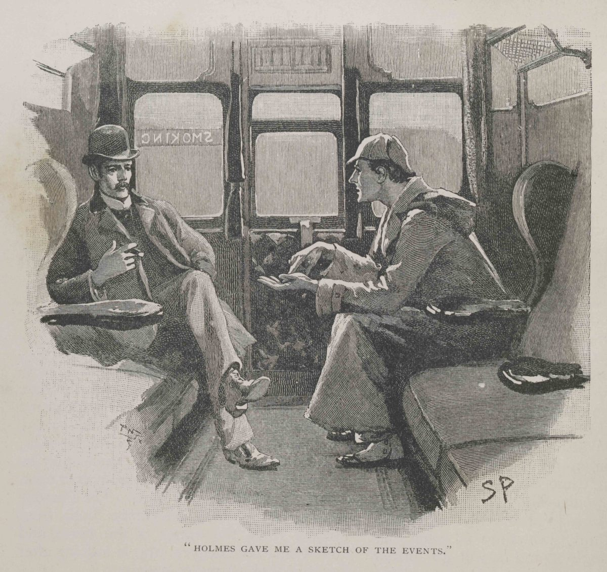 Holmes and Watson illustrated by Sidney Paget.