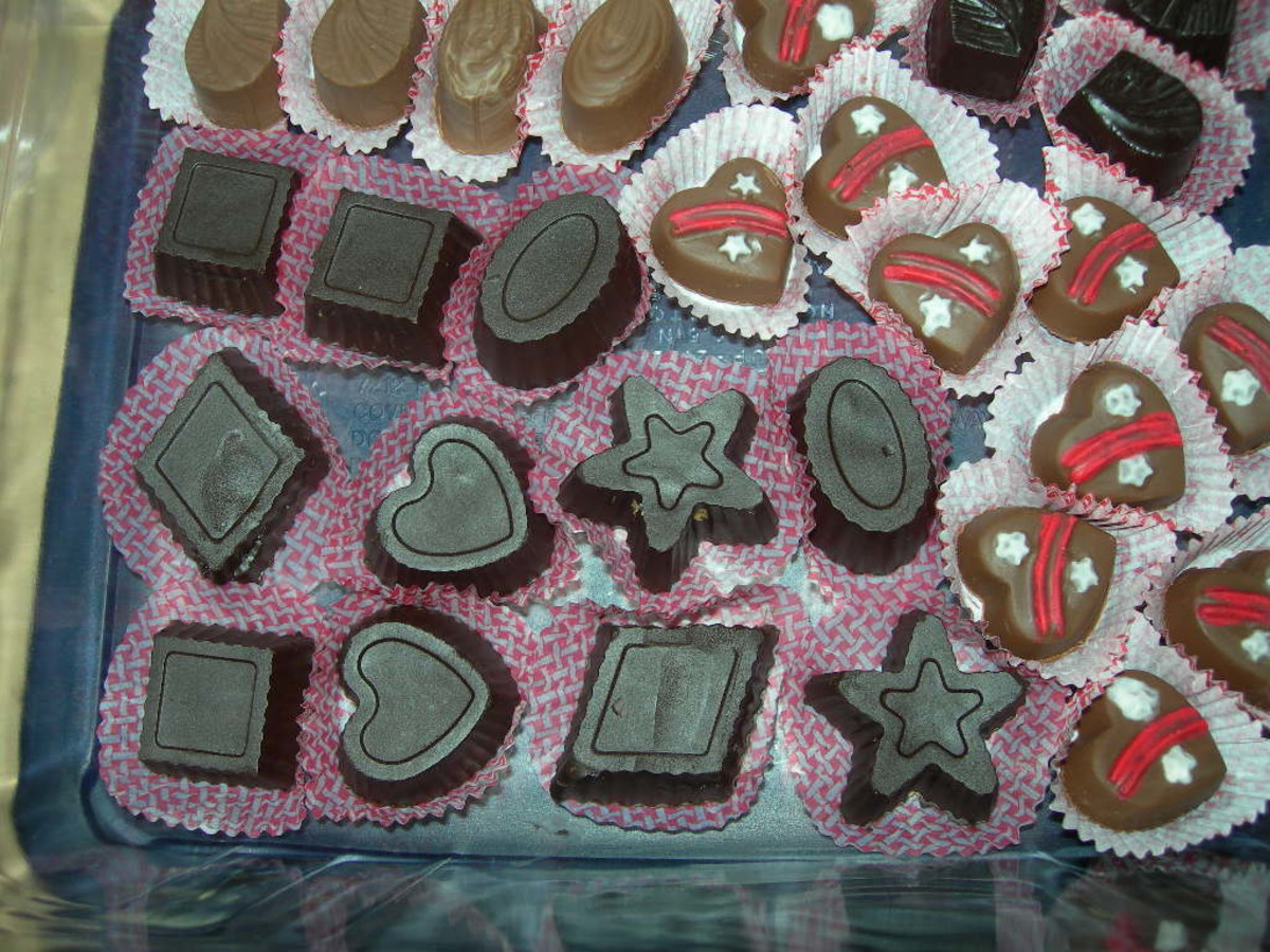 homemade molded chocolate candies