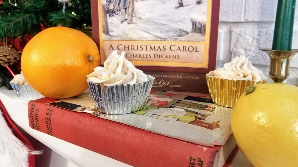 Traditional Christmas Citrus Spice Cupcake with Lemon and Orange Citrus Frosting