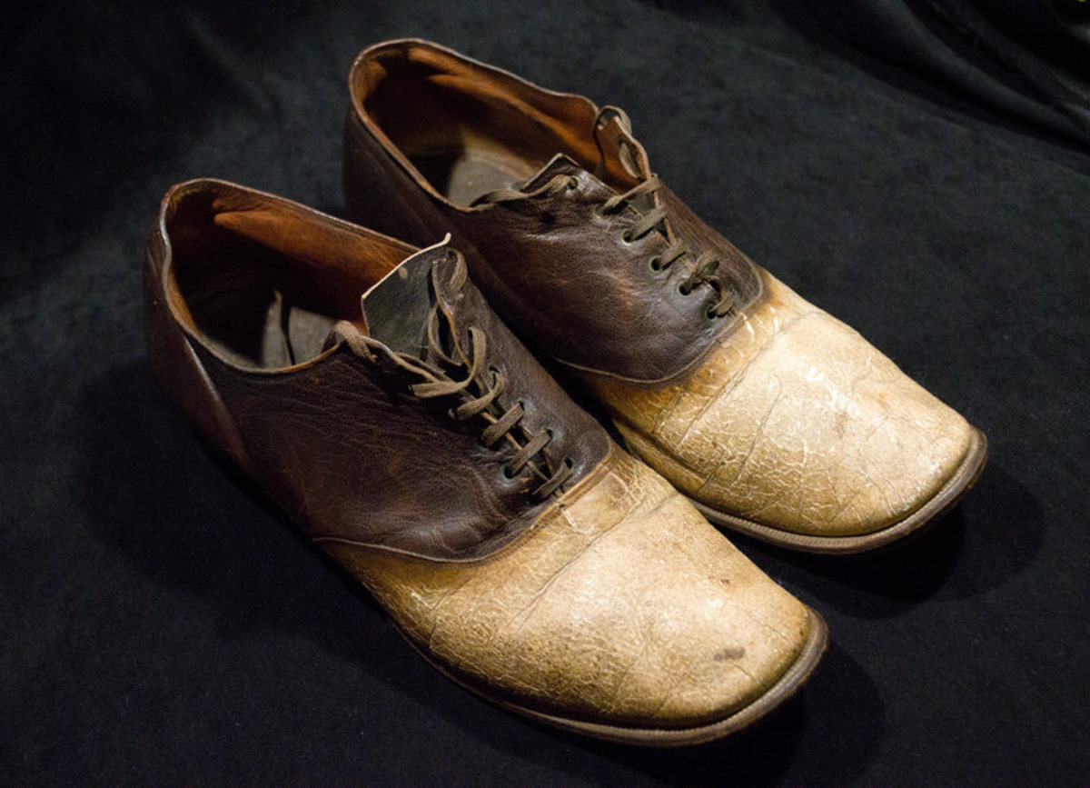The final resting place for part of Big Nose George Parrott, shoes made from his skin.