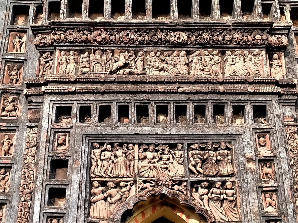 Terracotta decoration of Dewanji temple