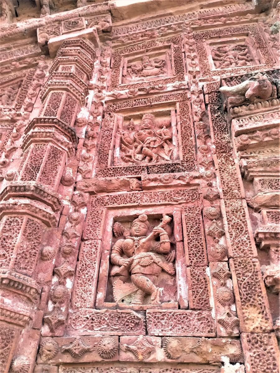 Terracotta decorations, Raghunath Shiva temple, Ghurisha