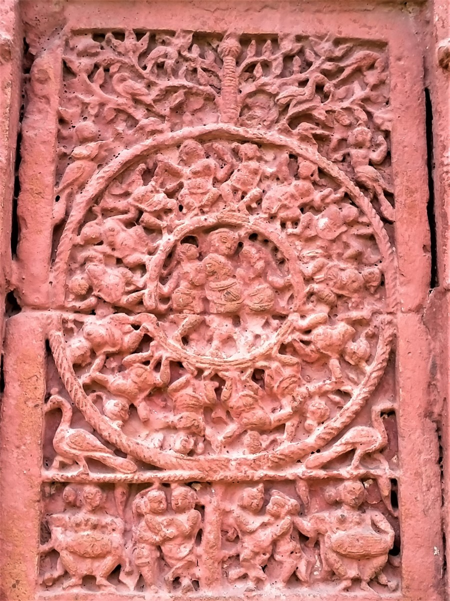 RASMANDAL  in terracotta; Raghunath Shiva temple, Ghurisha
