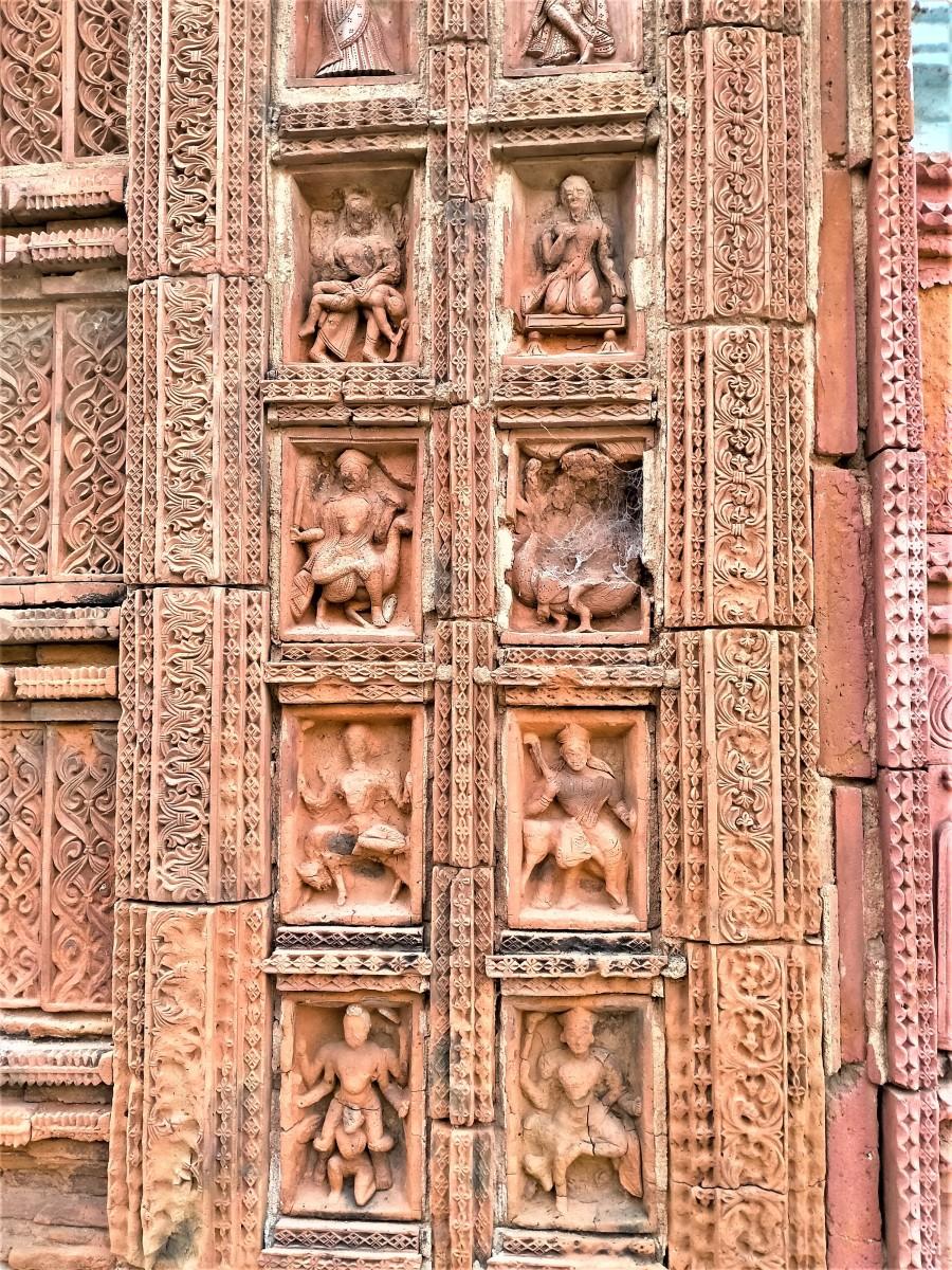 Terracotta decoration 1, Lakshmi Janardan temple, Ghurisha