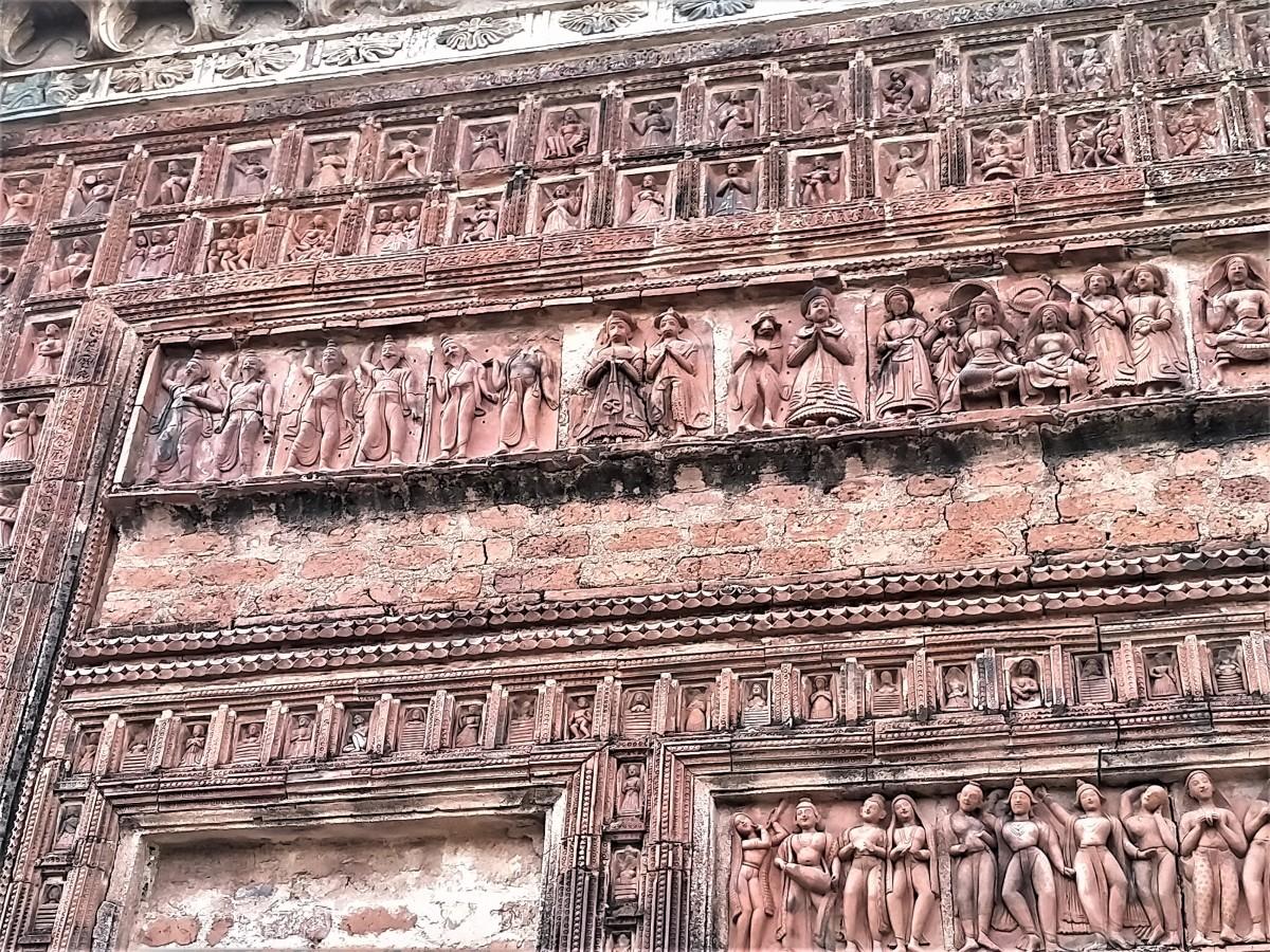 Terracotta decoration 2, Lakshmi Janardan temple, Ghurisha