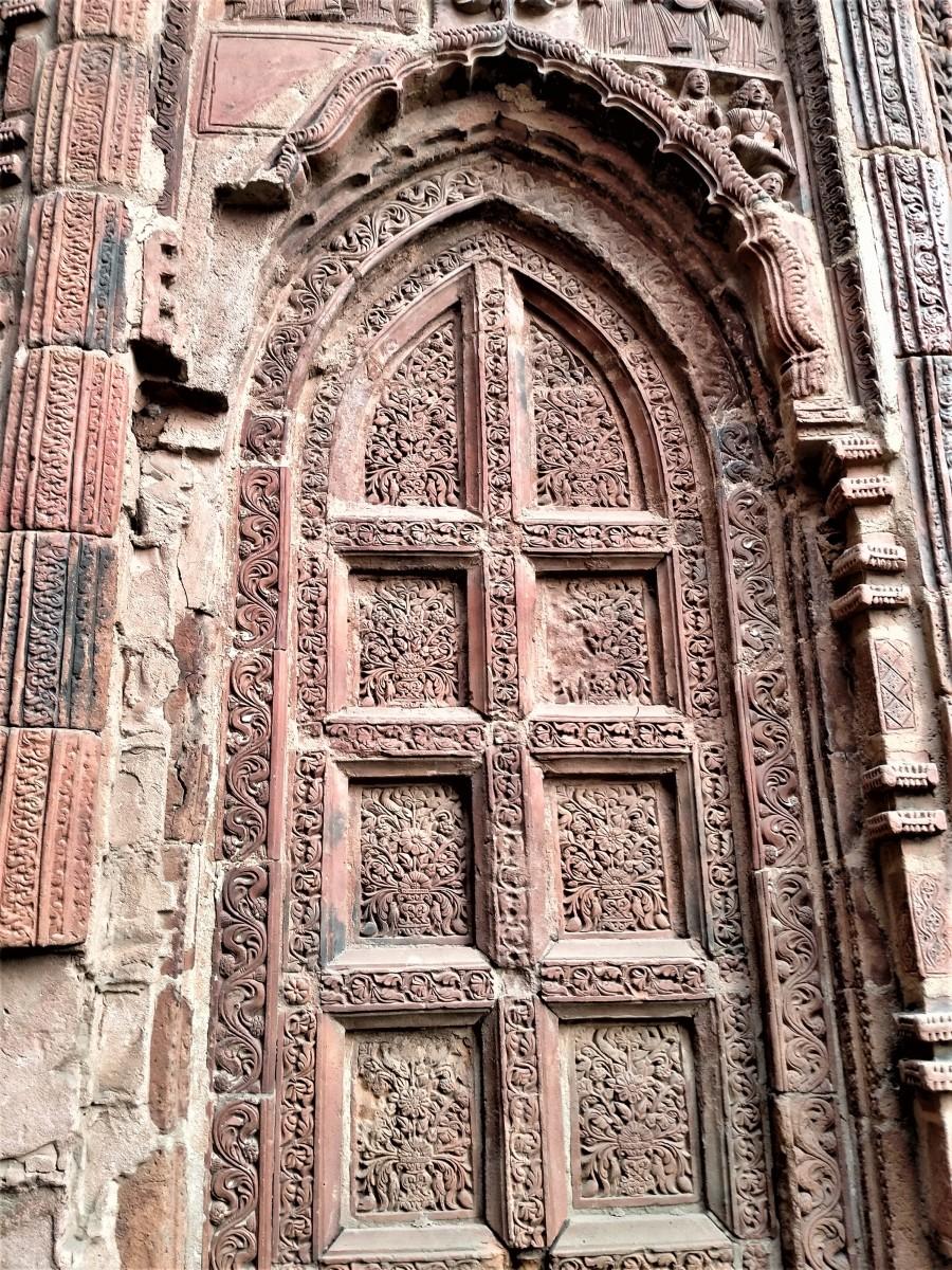 False door in terracotta, Gauranga Mahaprabhu temple, Illambazar