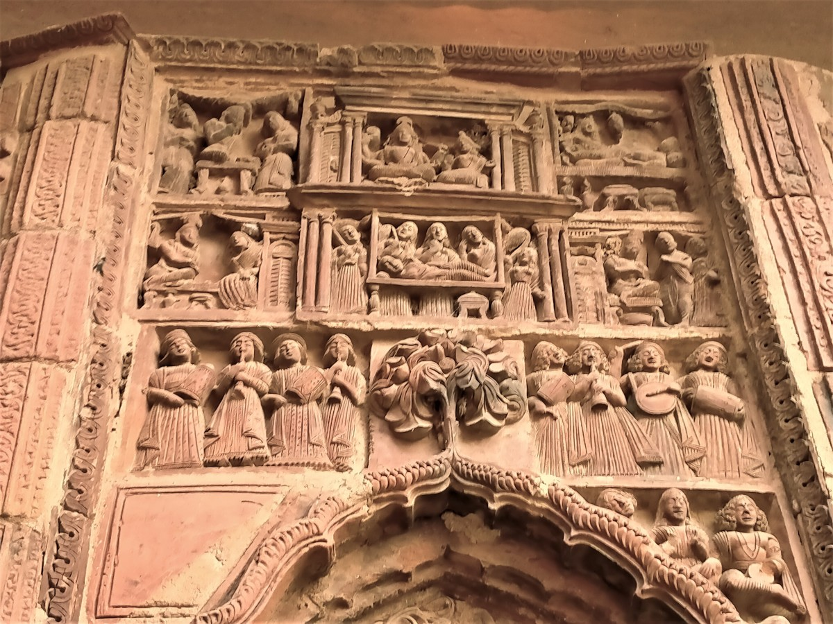 Terracotta decoration 1, Gauranga Mahaprabhu temple, Illambazar