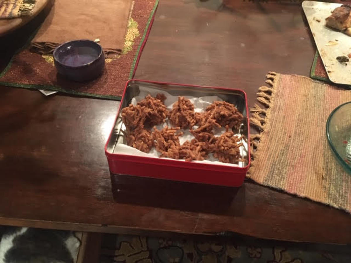 white-chocolate-red-bean-paste-and-butterscotch-haystacks-recipe