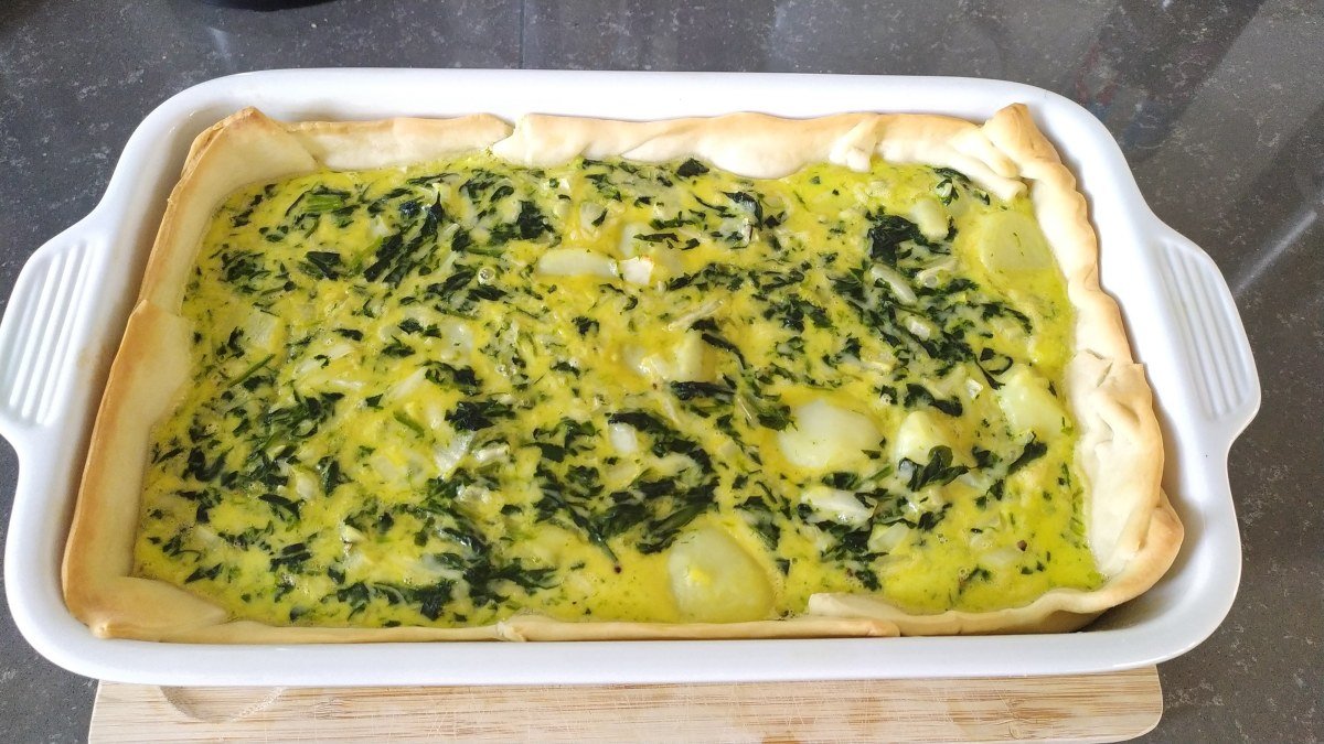 Spinach Quiche With Puff Pastry Recipe Delishably Food And Drink