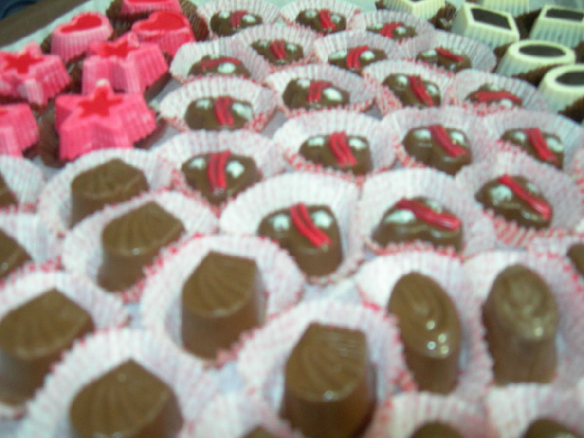 molded chocolate candies-finished product
