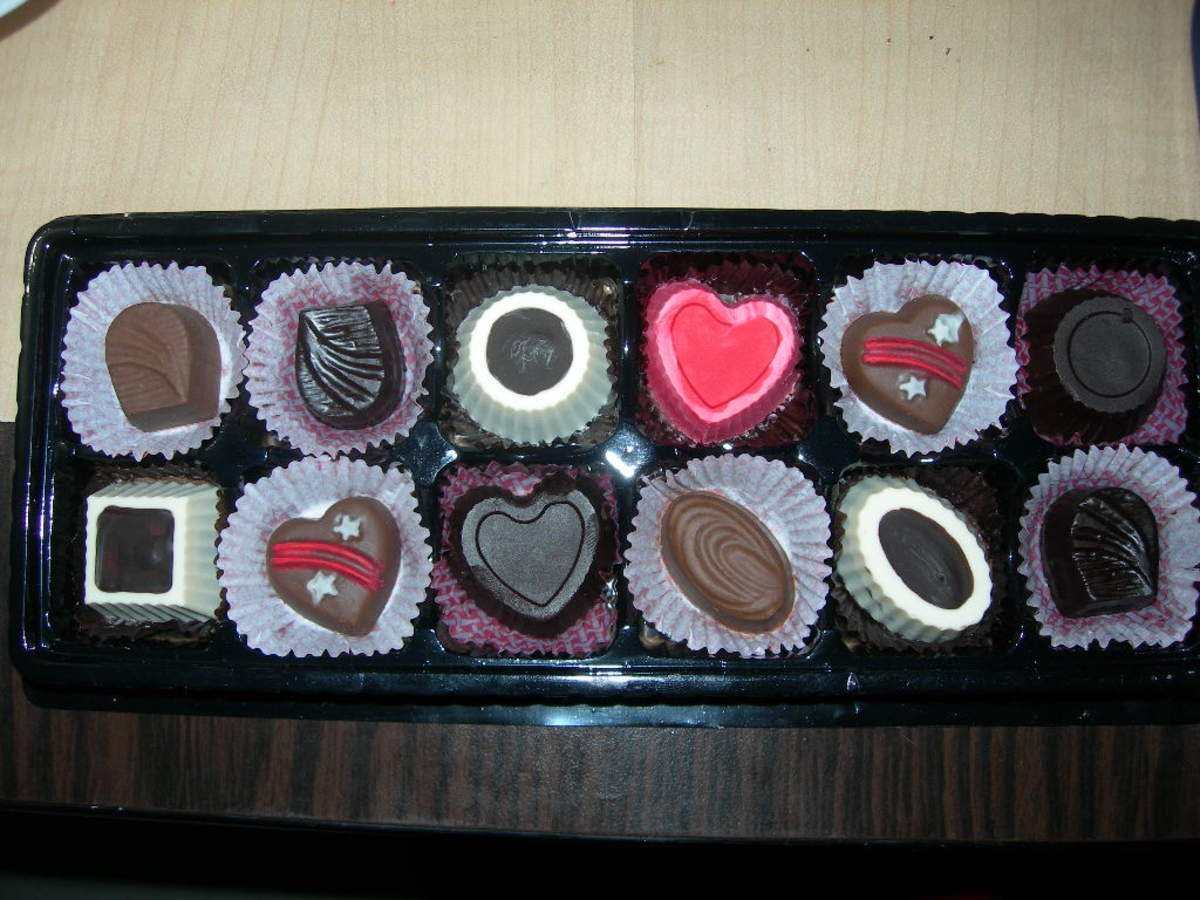 Set of assorted homemade chocolate candies