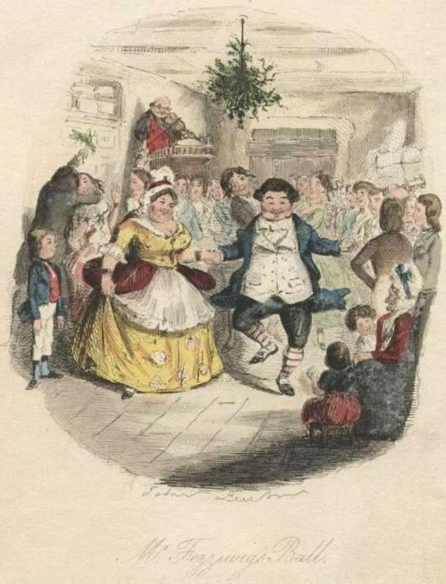 "John Leech ""Mr. Fezziwig's Ball"" (A Christmas Carol 1842)"
