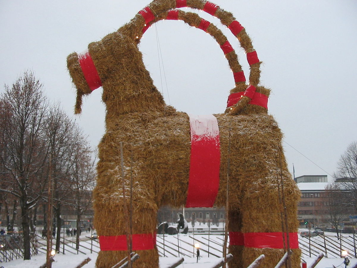 The Yule Goat!  A Scandinavian tradition.