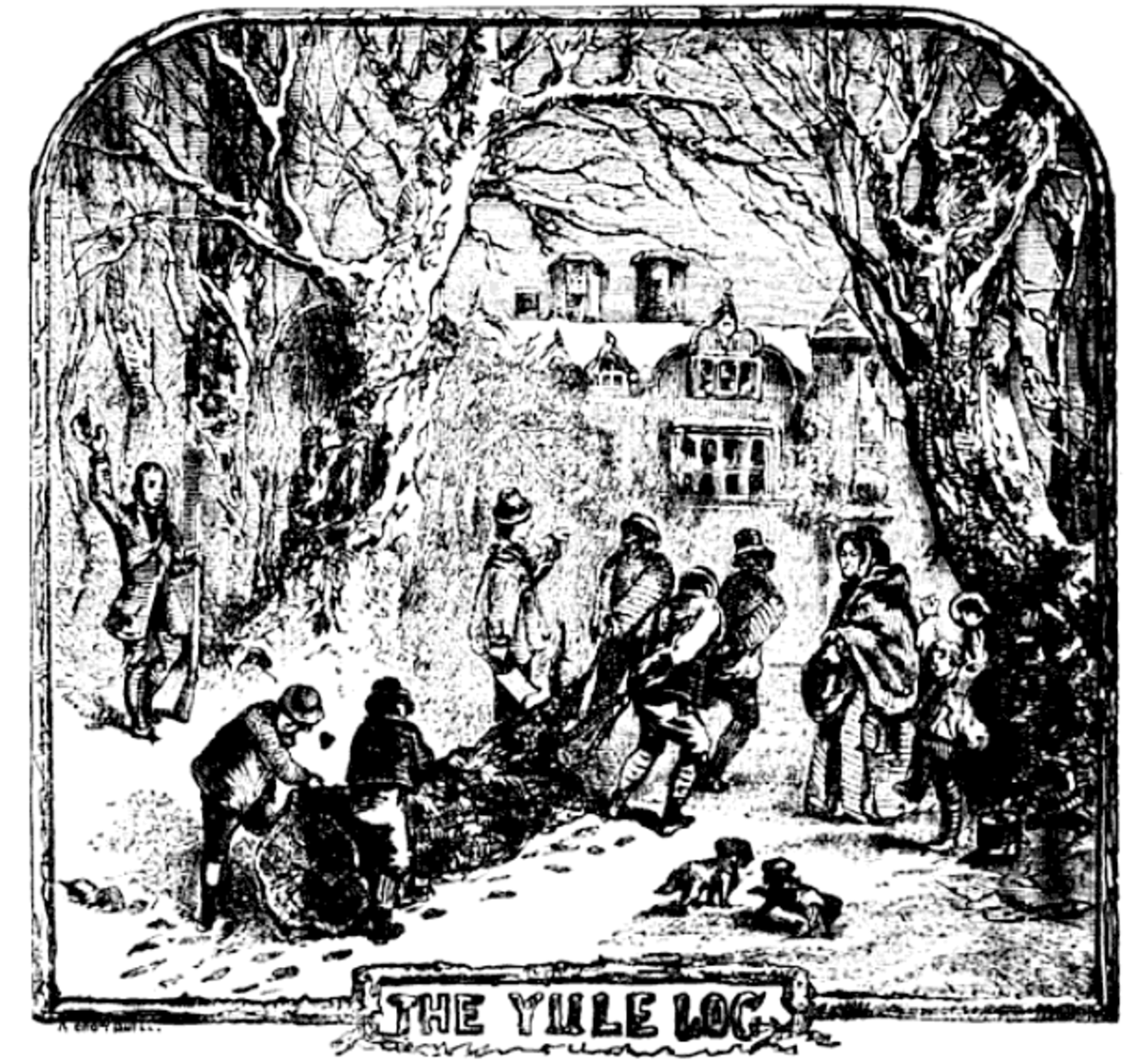 "Robert Chambers ""Yule Log"" (The Book of Days 1864)"