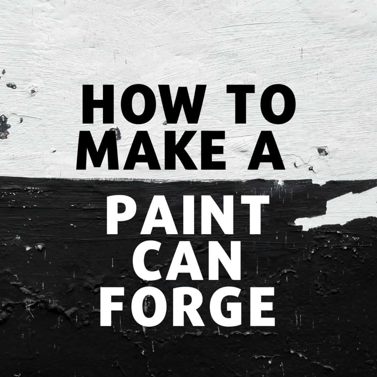 How to Make a Propane Forge From a Paint Can for Blacksmithing
