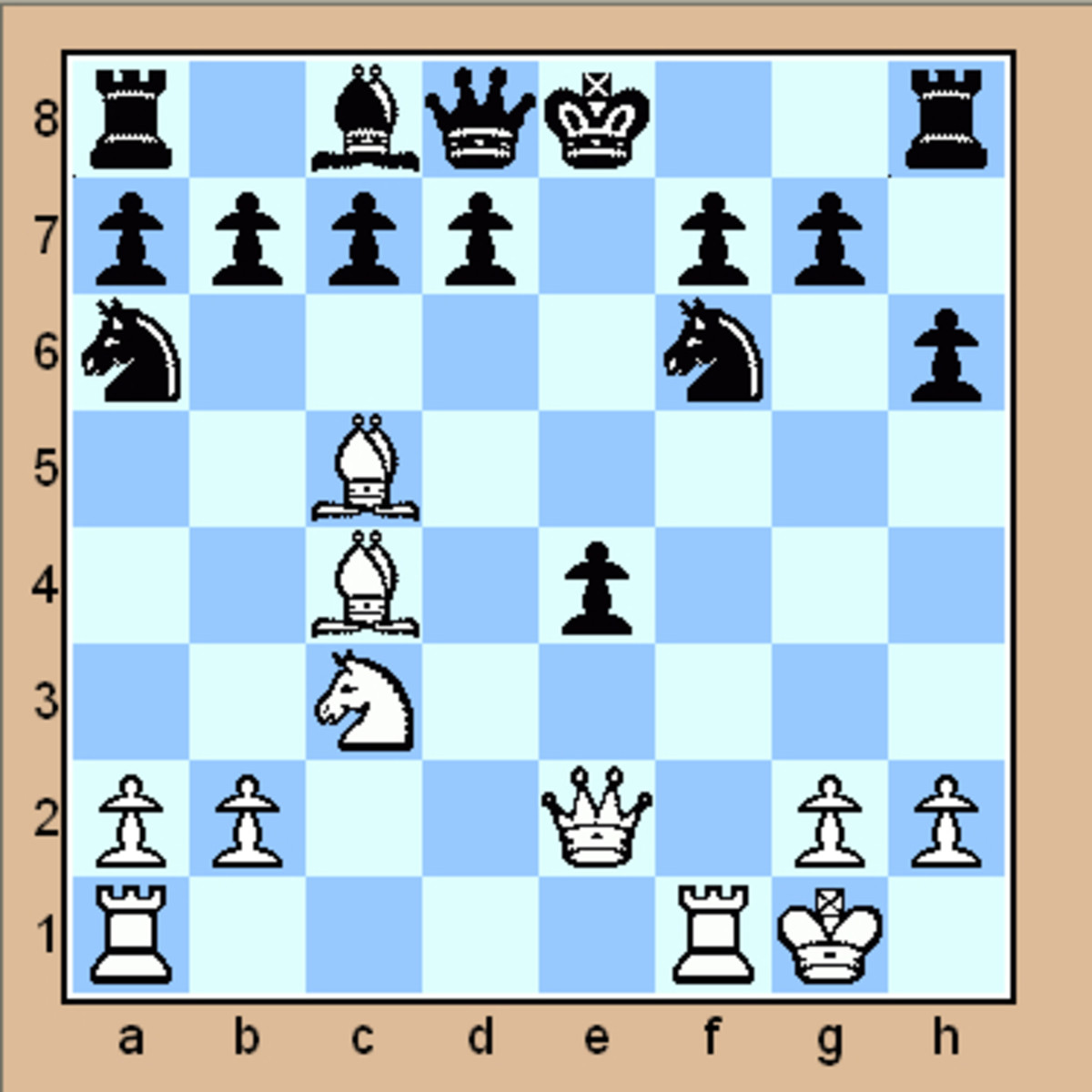 Mate in 2 chess puzzle (Click to enlarge)