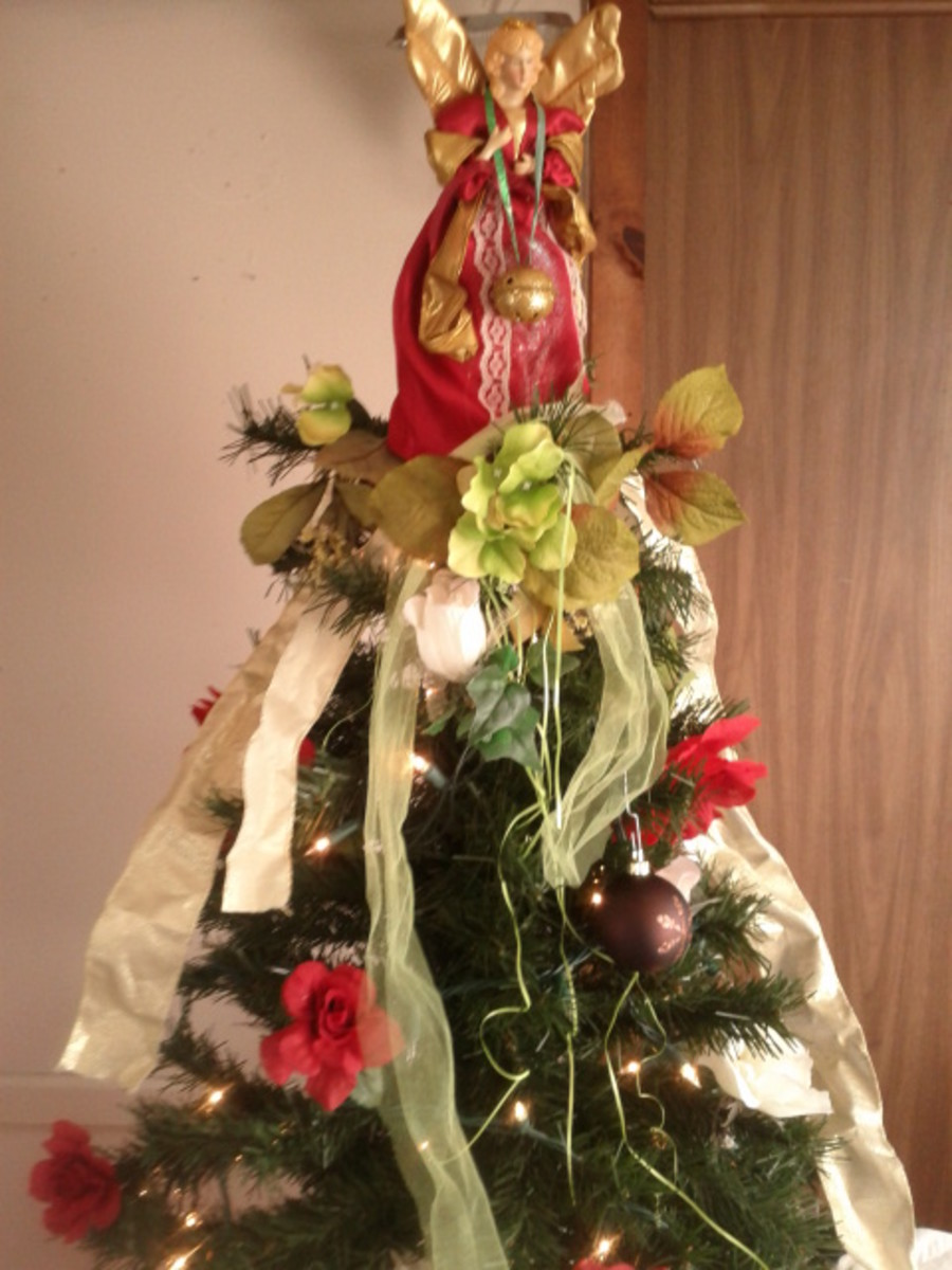 Every Christmas my Christmas Angel tops the tree.