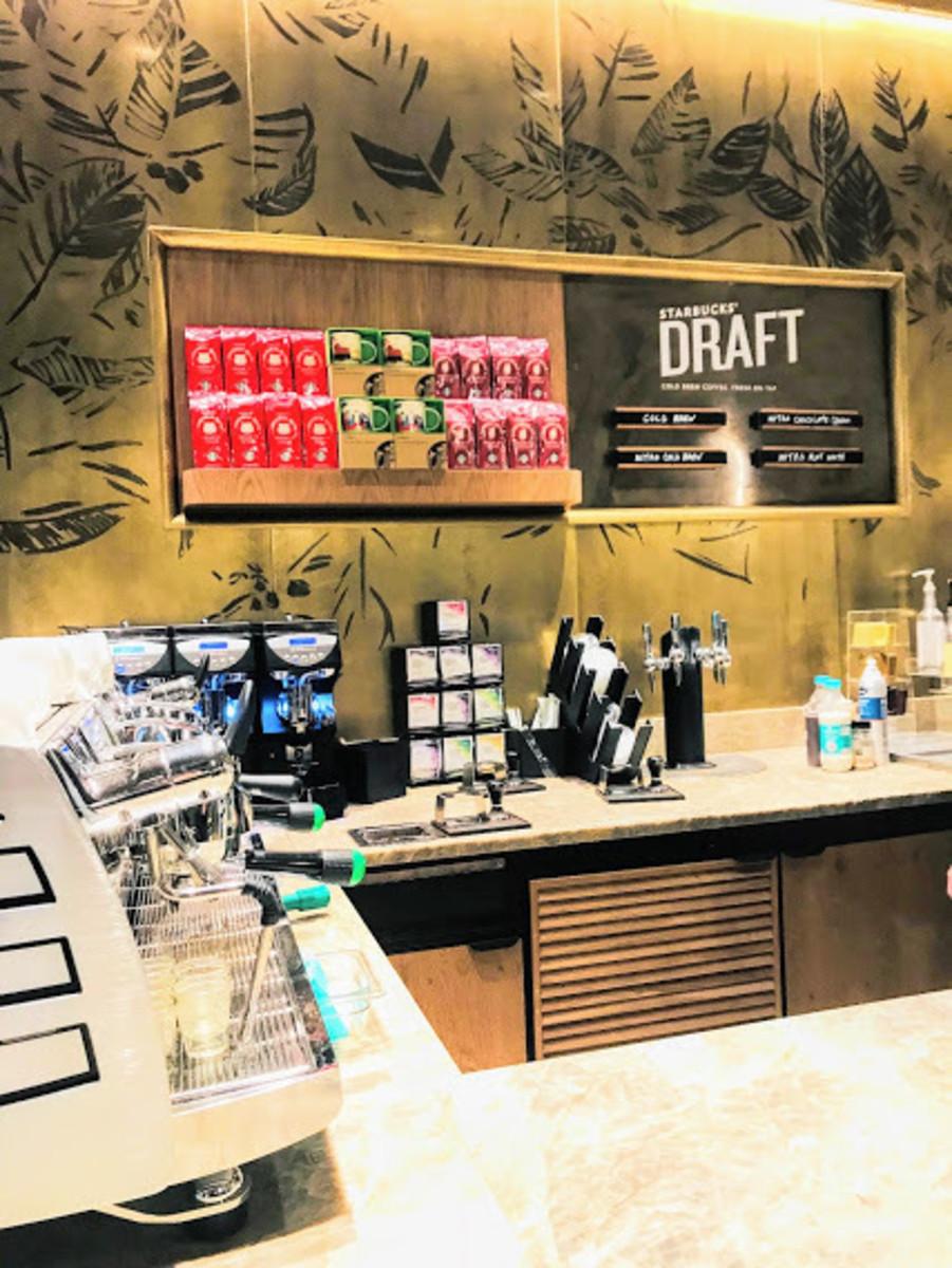 Inside an Italian Starbucks coffee shop
