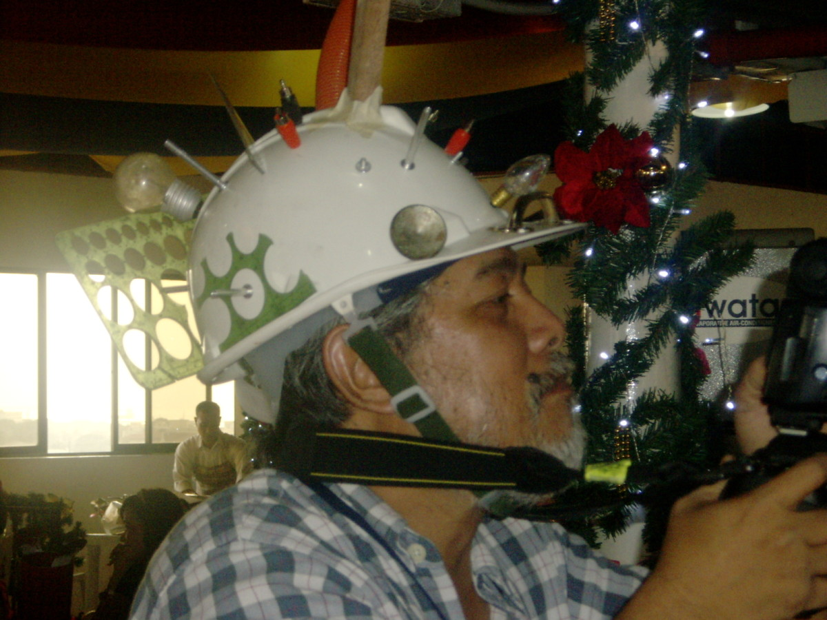 Crazy hats Parade, added attraction in a Christmas Party