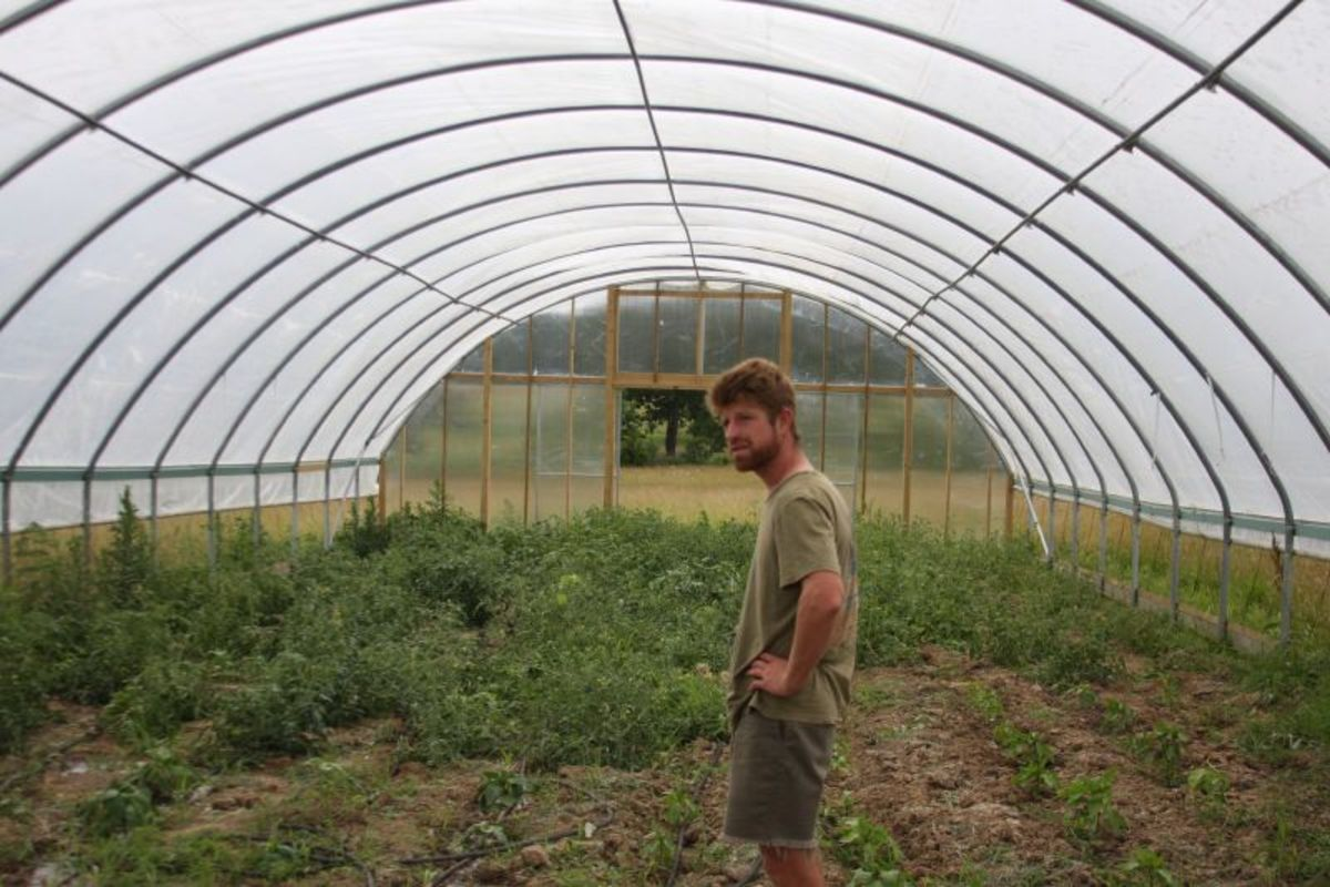 This is a large example of a hoop house.  For the home gardener smaller versions work well and can be built from lots of easy to find cheap materials.