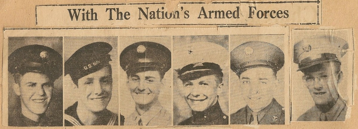 A clipping from WWII era newspaper in Maine.