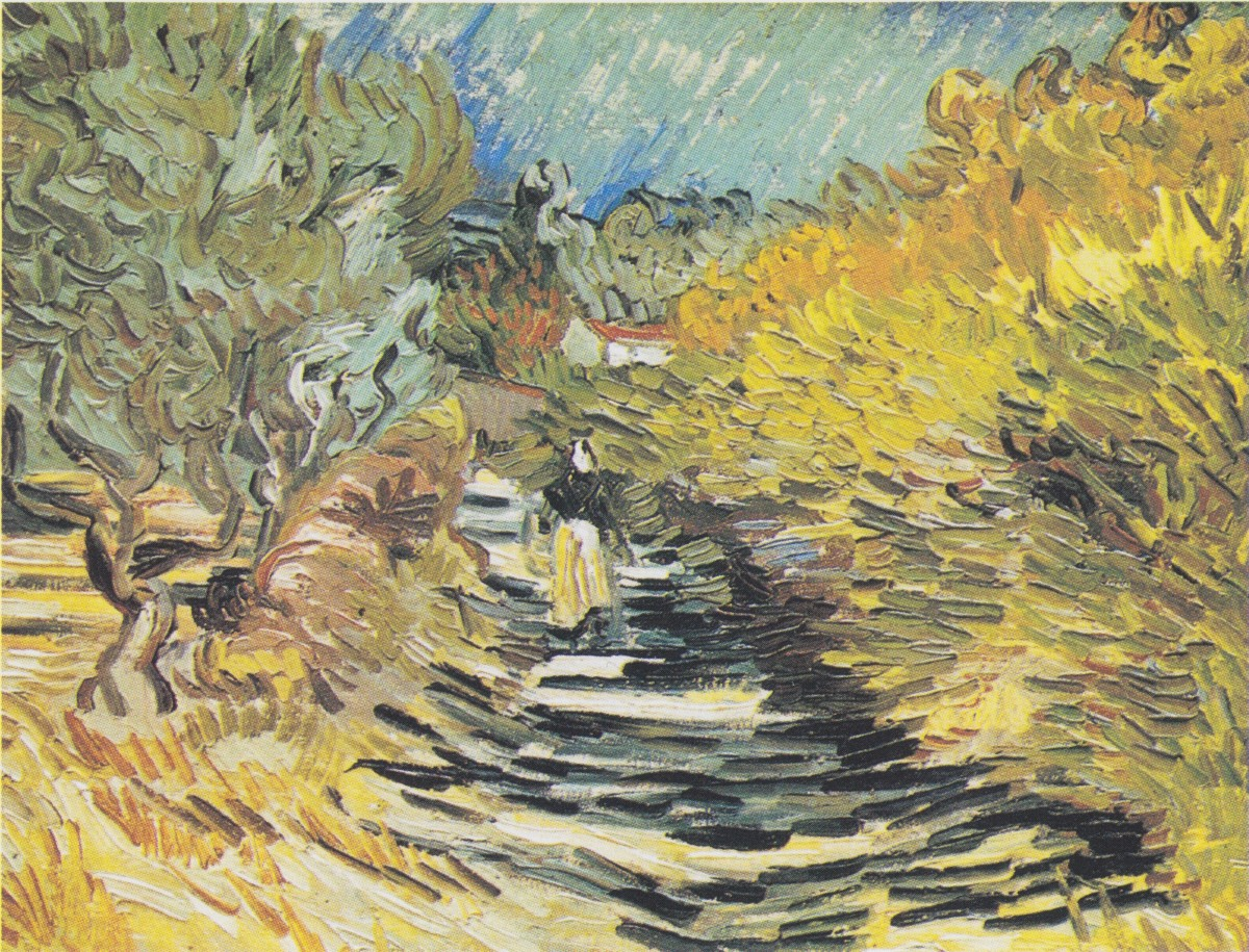 A Road at Saint-Rémy with Female Figure - December, 1889