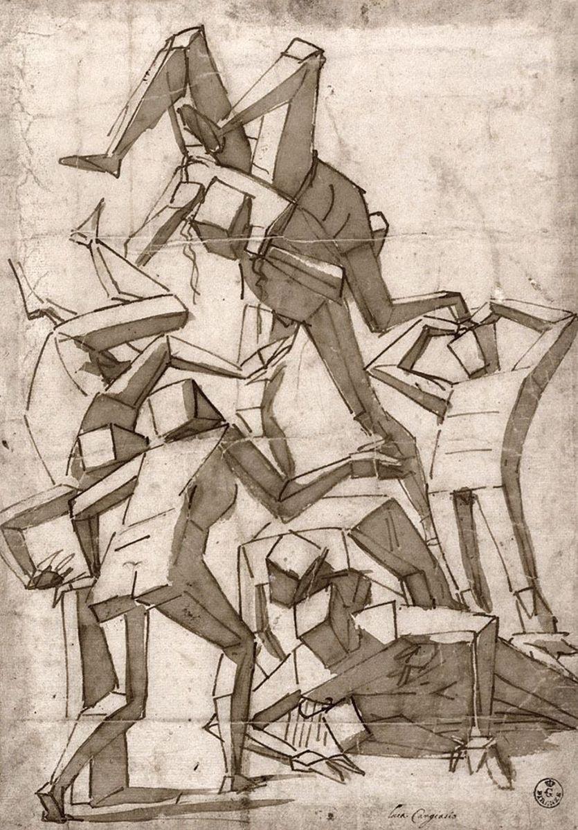 One of Luca Cambiaso's original drawings
