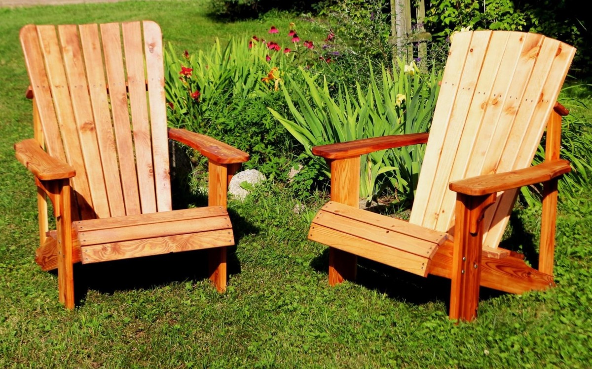 This article will explain the process of how I built these two Adirondack chairs.