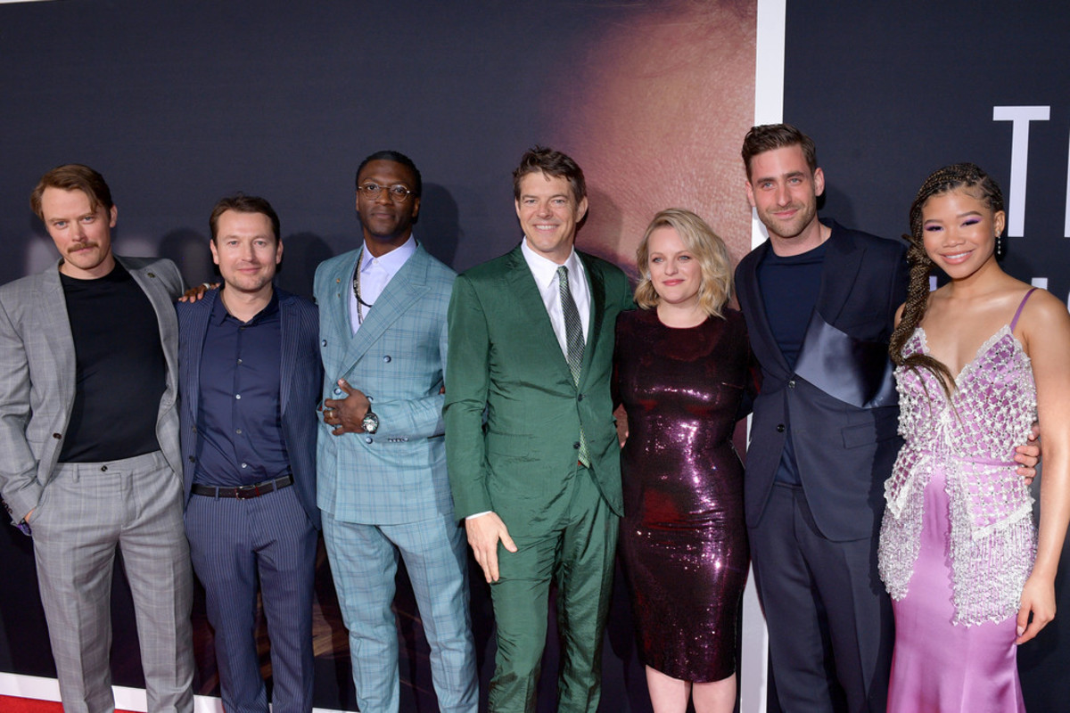 The Invisible Man (2020) cast at the movie premiere