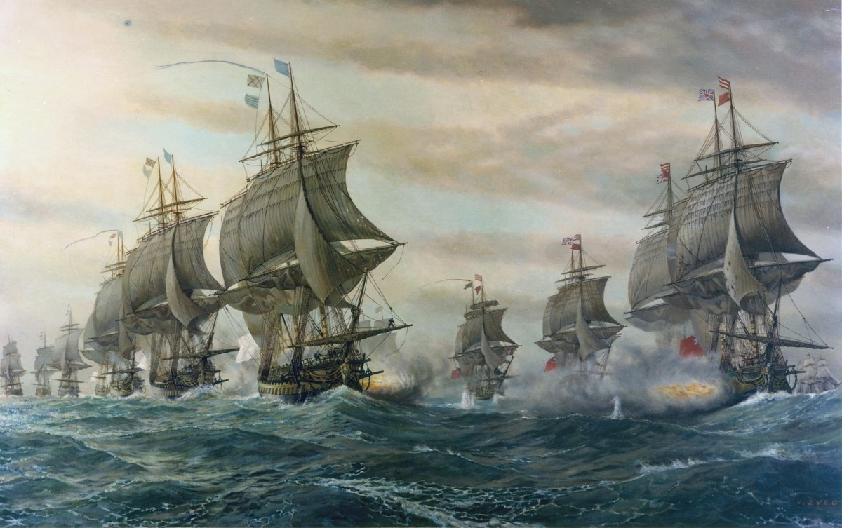 Battle of the Chesapeake between the British and French navies.