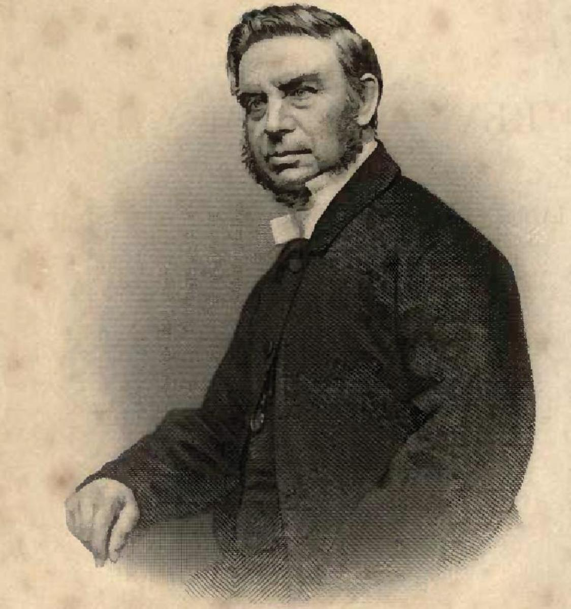 "The Reverend William Shaw, pioneering Methodist missionary in the Eastern Cape. Image from ""Memoir of the Rev William Shaw"" 1875"