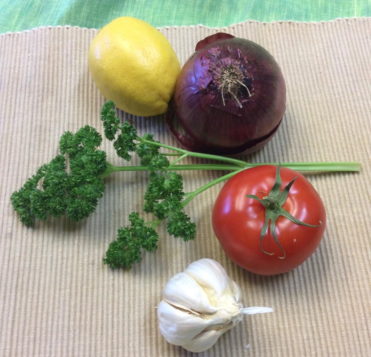 Fresh ingredients have lots of flavor.