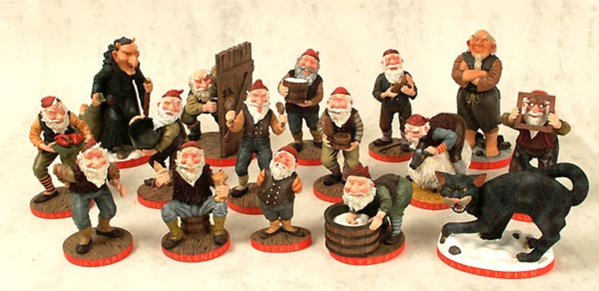 Yule lad figurines by Brian Pilkington.