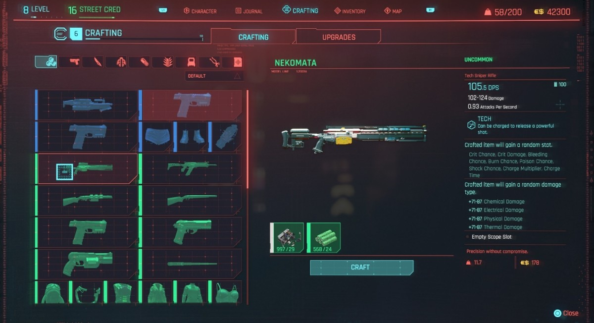 Look out for weapons with mod slots.