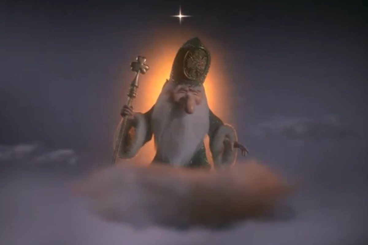 The Lord of Leprechauns, watching down from the heavens.