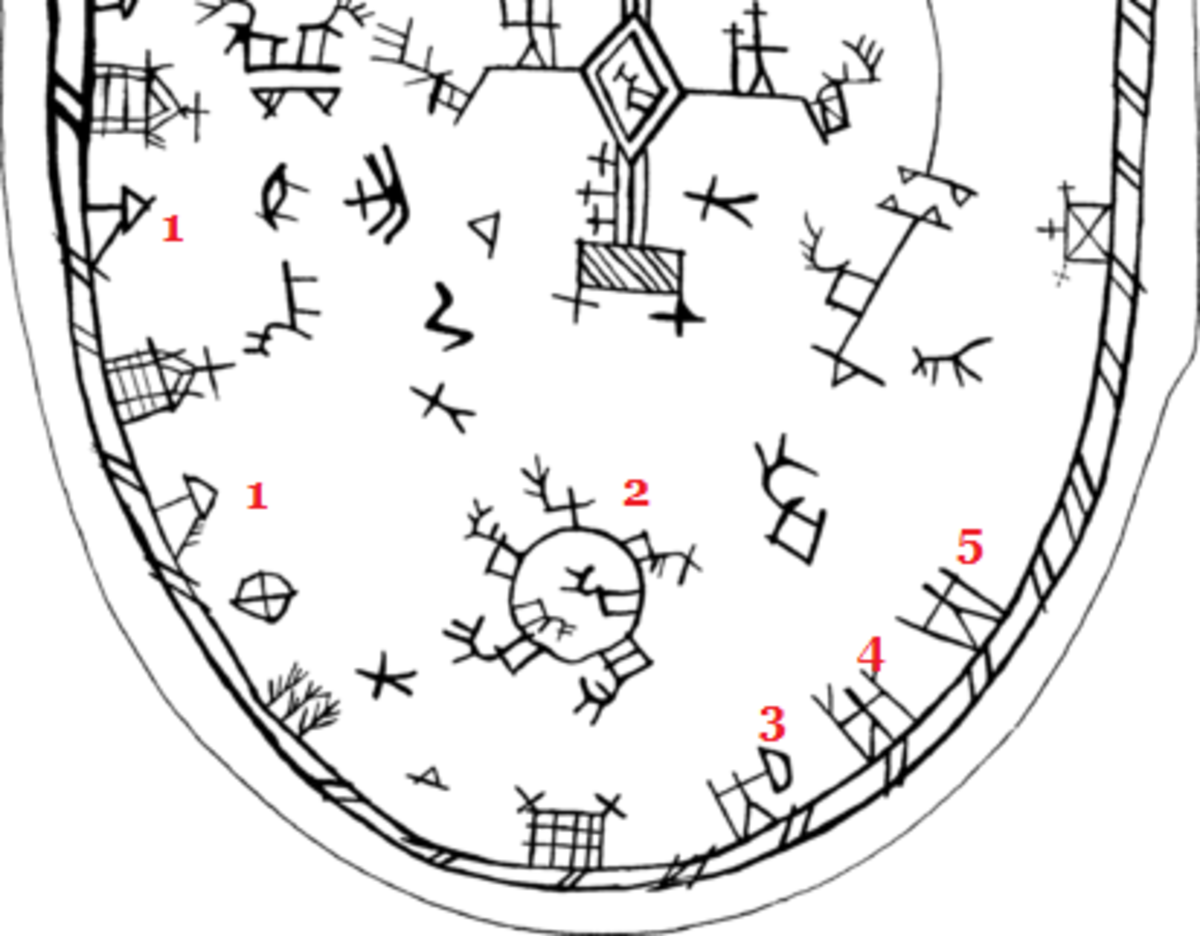 By Orland - Sámi mythology shaman drum ,  Possibly contains early image of Madder Atcha