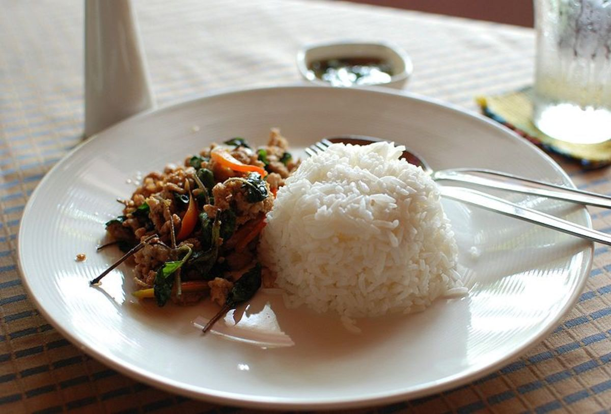 "Holy basil with minced pork and rice (The Thai ""kraphao mu"")"