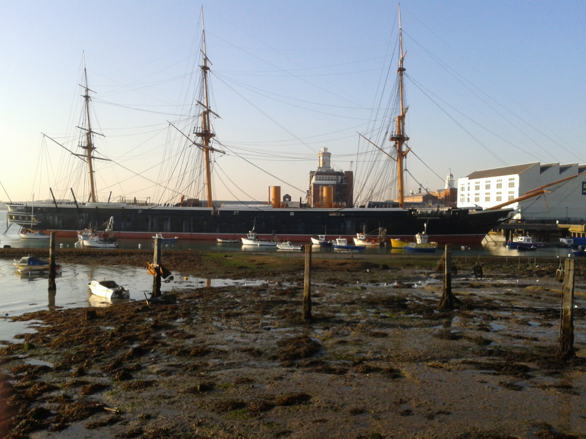 The HMS WARRIOR 1860