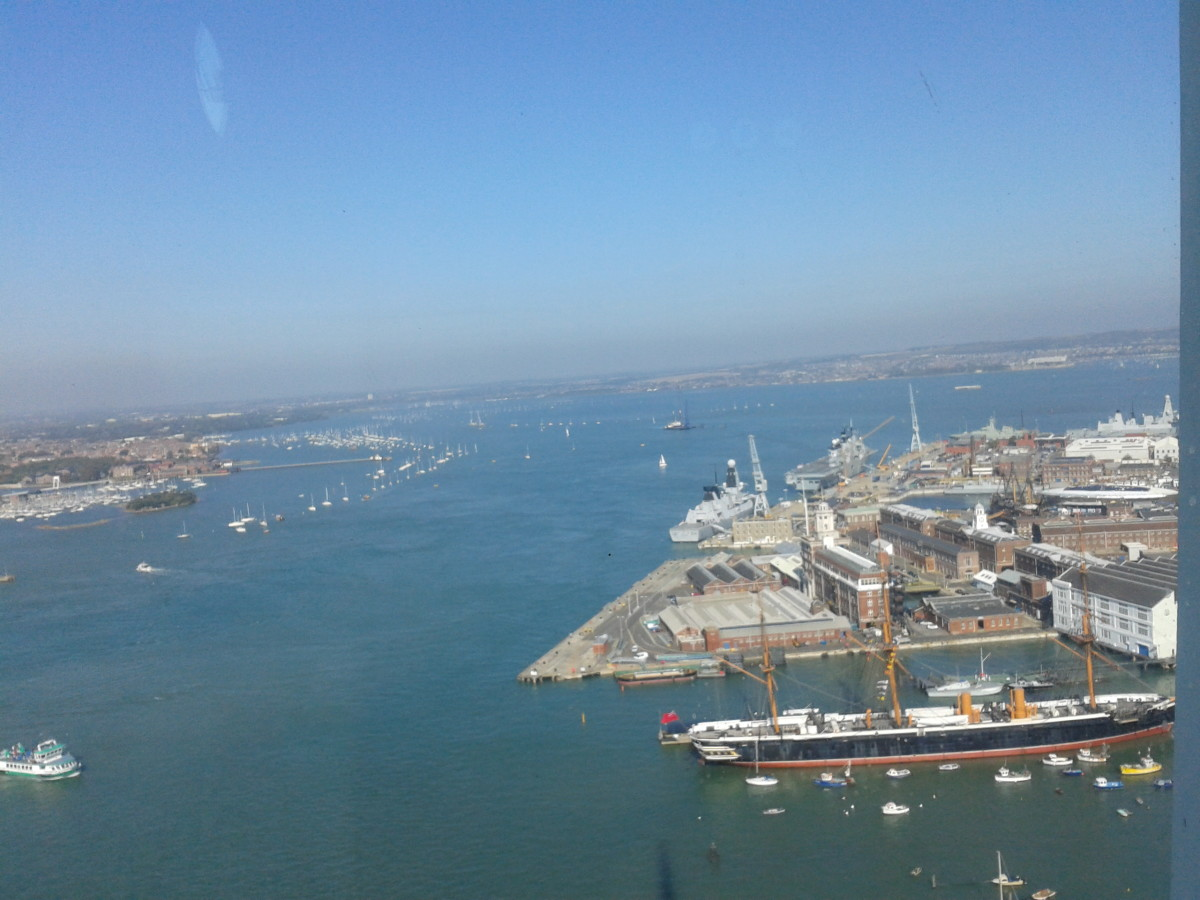 Beautiful View from up the Spinnaker Tower