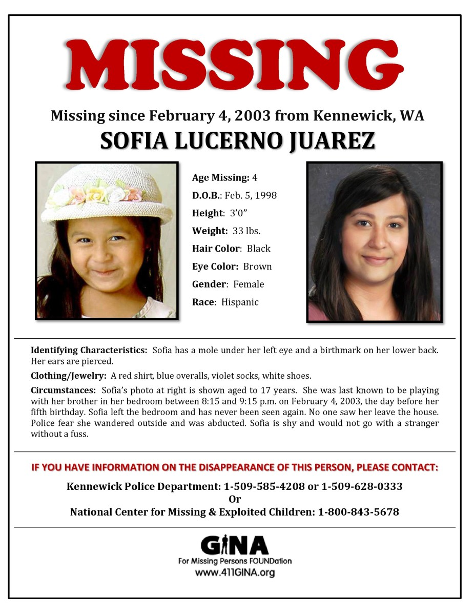 Missing Poster for Sofia