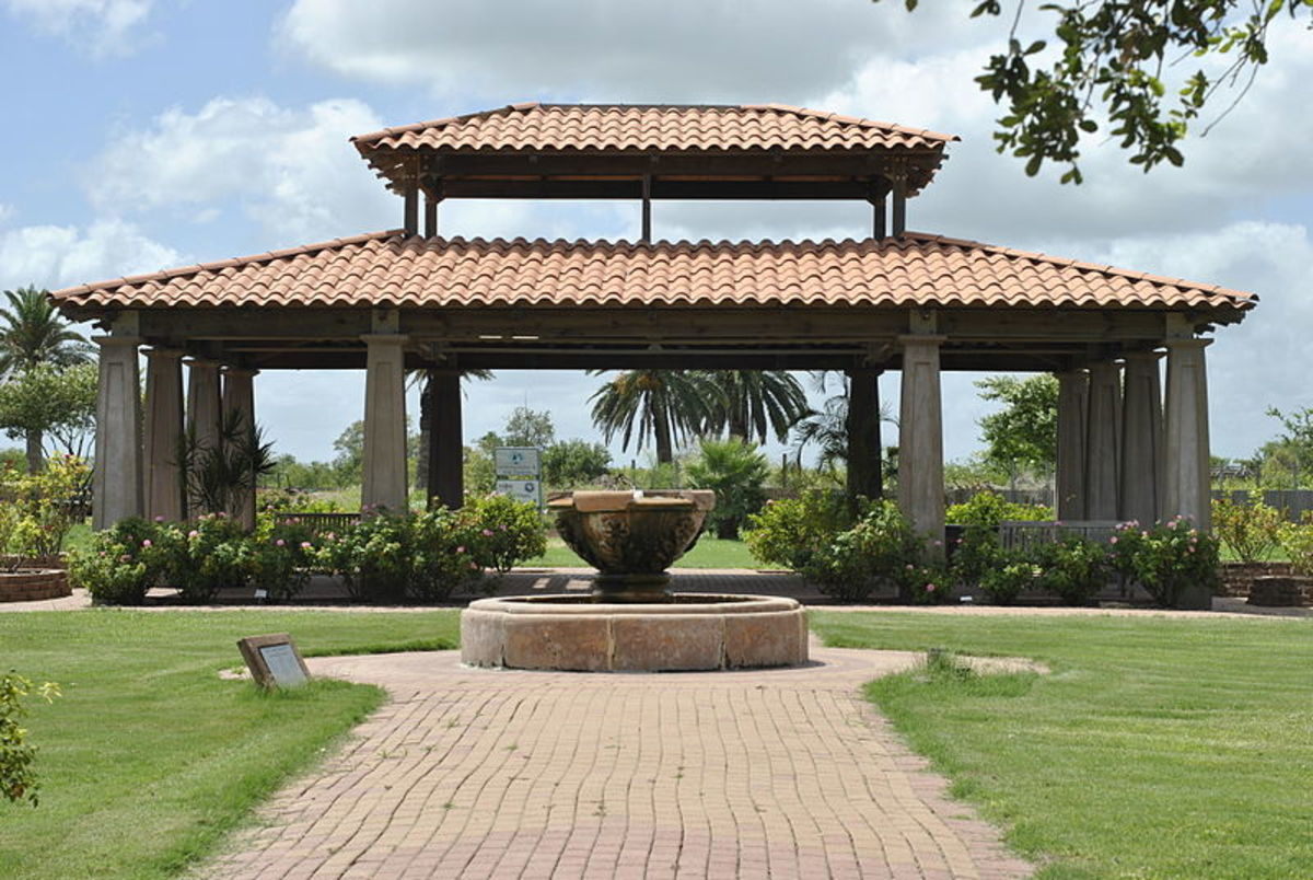 Rose Garden Pavilion at the Corpus Christi Botanical Gardens and Nature Center