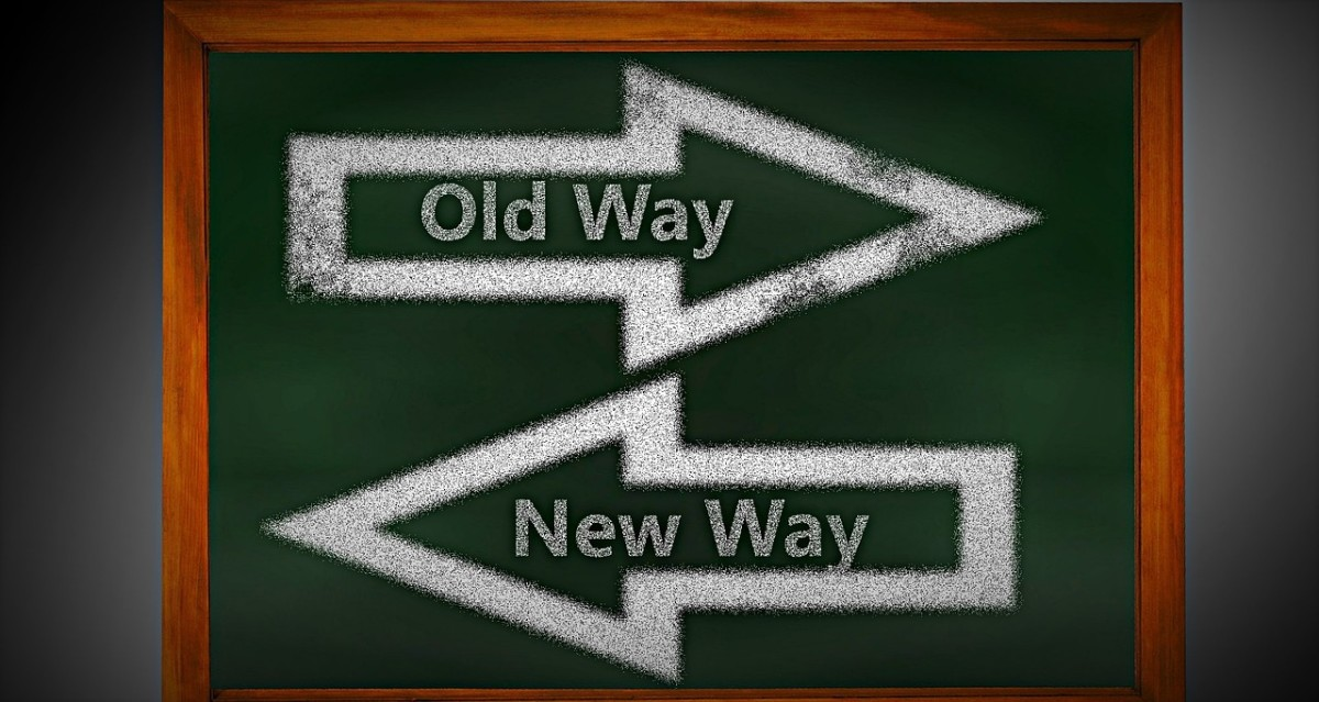 Sometimes the new way takes us backwards